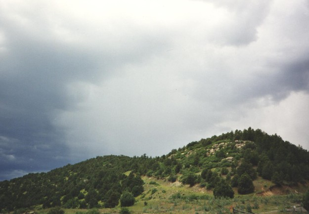 The sky above Berwind Canyon